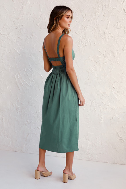 Venetia Midi Dress JADE