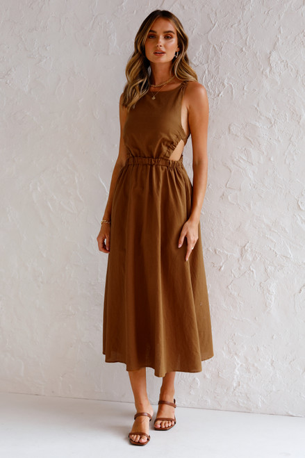 Geneva Midi Dress TOFFEE