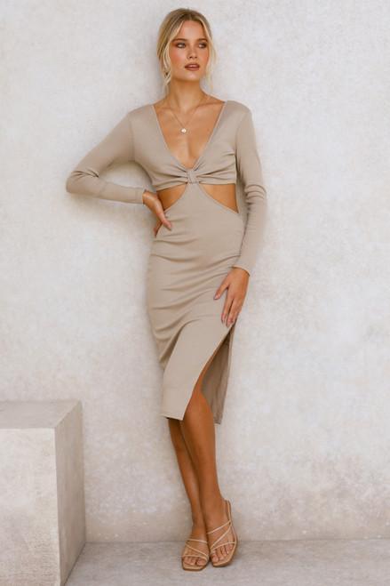 Tina Midi Dress TAUPE