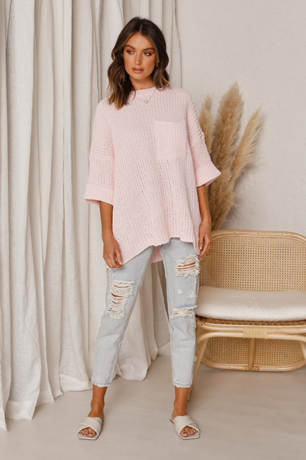 Perkins Knit Top PINK