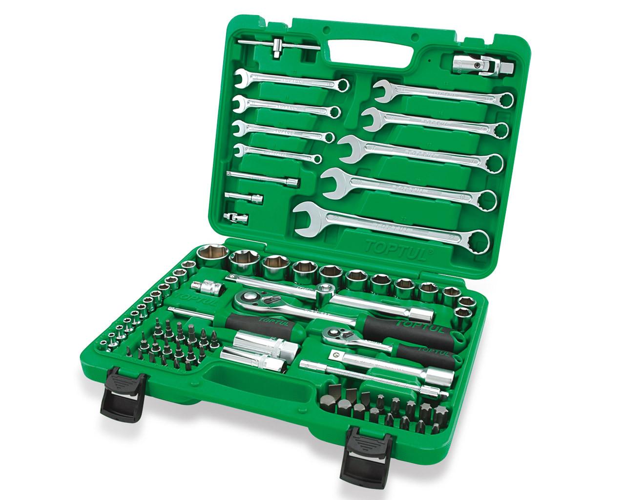 82a41184794 Toptul GCAI8201 Professional Grade Flank Socket Spanner Set 6PT 1 4