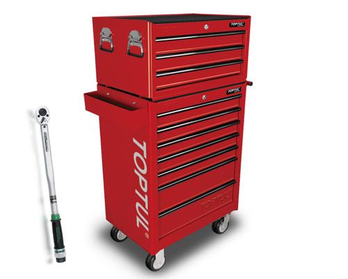 Toptul GT-28305-1 General Tool Kit Red 10 Drawer 283pce