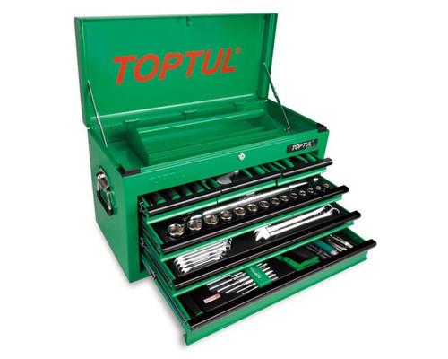 Toptul 120 Piece Tool Kit Mechanics Metric/AF 6 Drawer-GCBZ120A