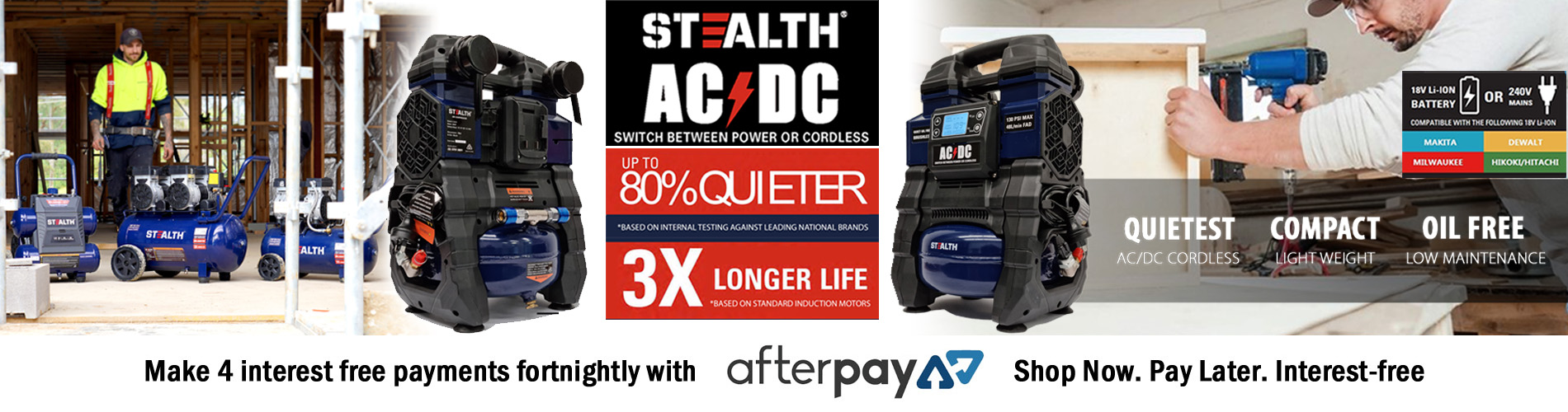 Stealth ACDC Cordless Quiet Air Compressor