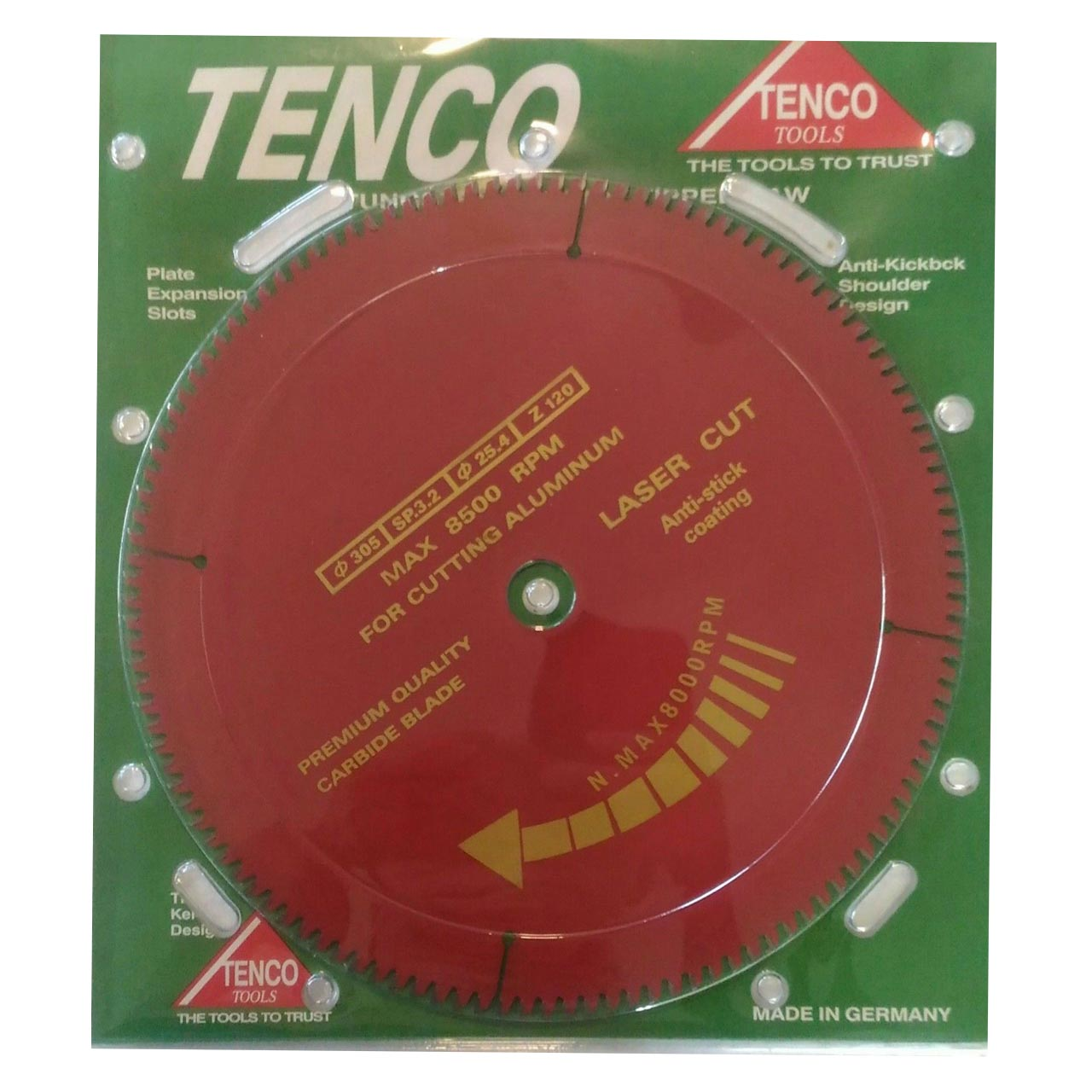 Tenco ALC305120T Saw Blade Aluminium Cutting 3 2x25 4x305mm