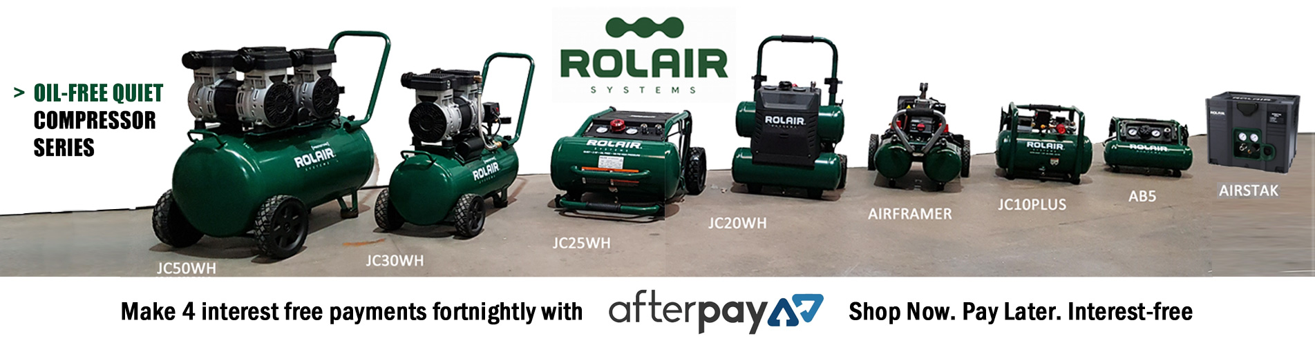 Rolair Quiet Oil Free Air Compressors - Audel Tools