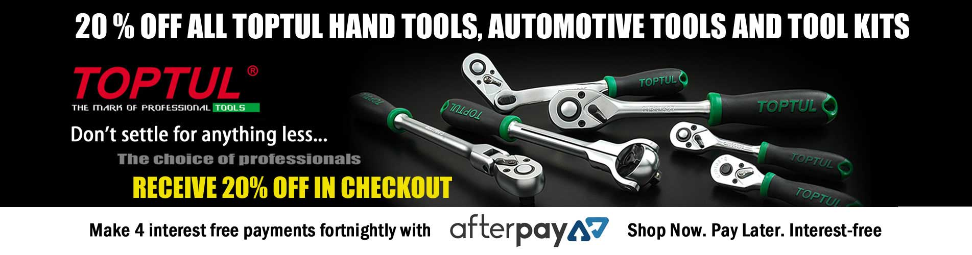 20% OFF ALL TOPTUL TOOLS