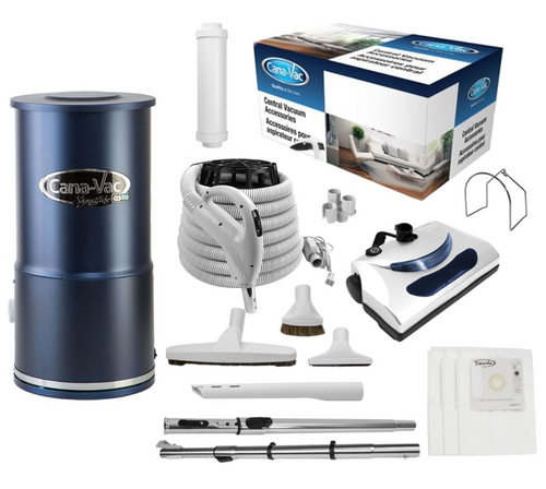 Cana-Vac Signature CLS-790 Condo Central Vacuum with 30' Standard Electric Kit