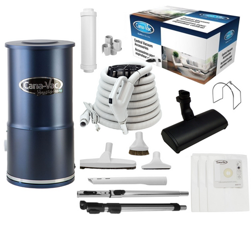 Cana-Vac Signature CLS-790 Condo Central Vacuum with 30' Total Control Kit