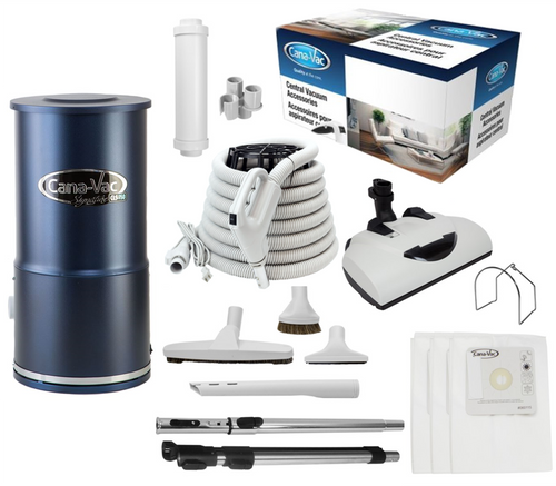 Cana-Vac Signature CLS-790 Condo Central Vacuum with 30' Performance Kit