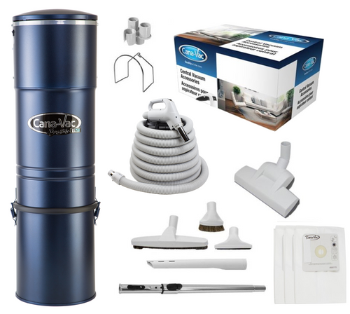 Cana-Vac Signature LS-790 Central Vacuum with Wessel 35' Rug & Floor Kit