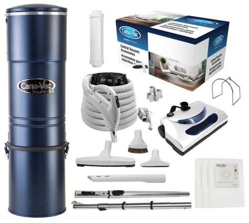 Cana-Vac Signature LS-790 Central Vacuum with 30' Standard Electric Kit