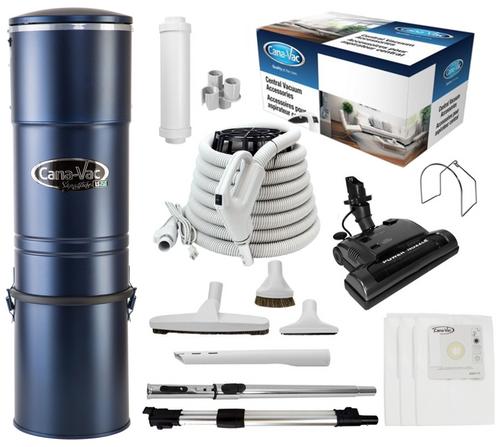 Cana-Vac Signature LS-790 Central Vacuum with 30' Power Essentials Kit