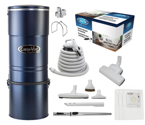 Cana-Vac Signature XLS-990 Central Vacuum with 35' Wessel Rug & Floor Kit
