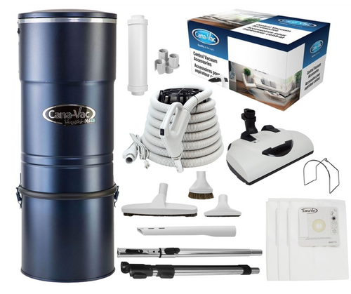 Cana-Vac Signature XLS-990 Central Vacuum with 30' Performance Kit