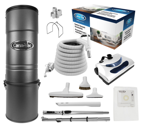 Cana-Vac C-425 Central Vacuum with 30' Standard Electric Kit