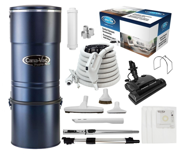 Cana-Vac Signature XLS-990 Central Vacuum with 30' Power Essentials Kit