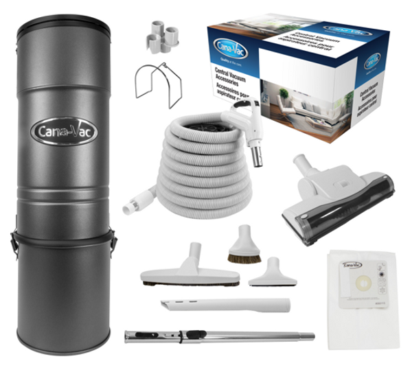 Cana-Vac C-425 Central Vacuum with 35' Rug & Floor Kit