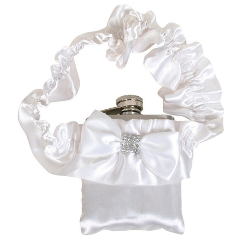 3oz Garter Flask White