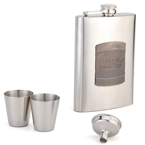 8oz Flask Birthday Shield