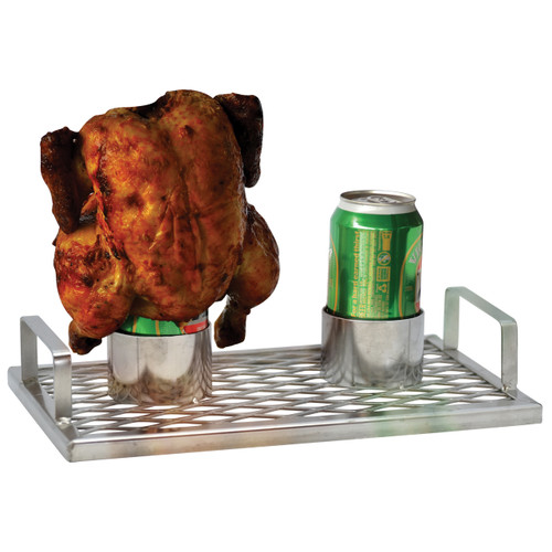 Chick 'N' Brew BBQ Roaster Twin Stainless Steel