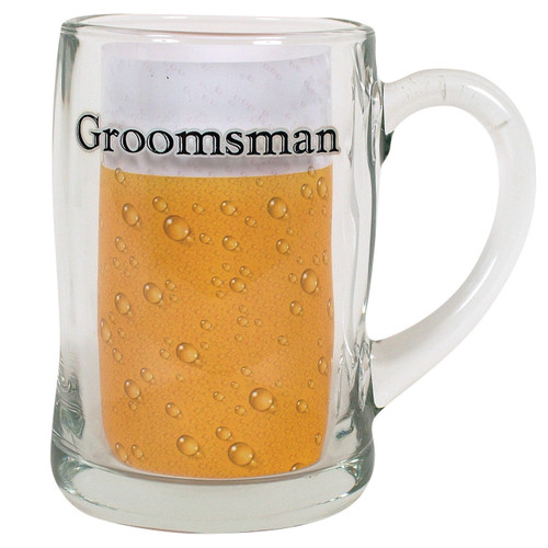 Groomsman Black Etch 400ml Mug Boxed