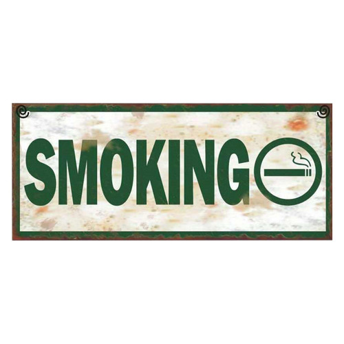 Metal Plaque - Smoking