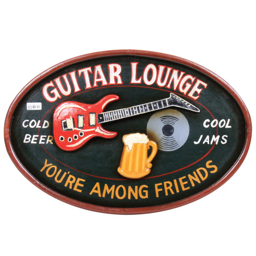 Wall Plaque Guitar Lounge