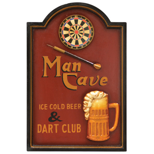 Wall Plaque Man Cave - Darts Club