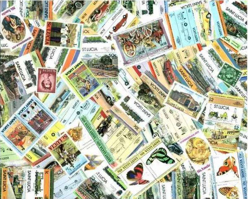 St. Lucia Stamp Collection - 100 Different Stamps