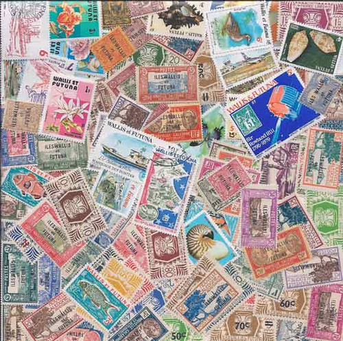 Wallis & Futuna Stamp Collection - 100 Different Stamps