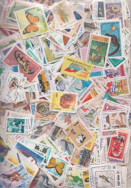 Outstanding Vietnam Stamp Collection - 1,300 Different Stamps