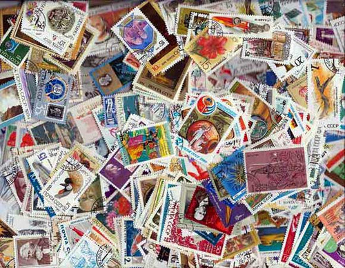 Russia Pictorial Stamps Collection - 500 Different Large Stamps