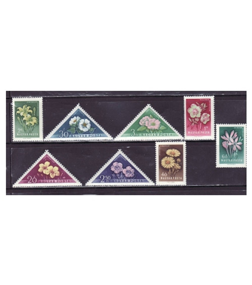 Hungary - Flowers on Stamps - 8 Stamp Mint Set MNH - 1195-202
