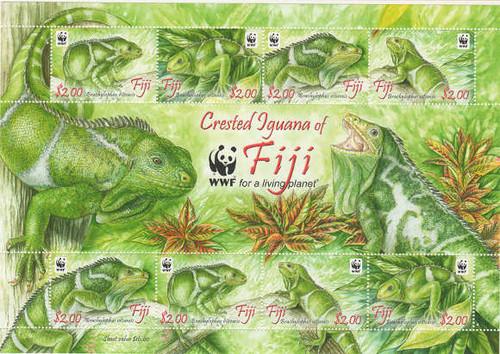 Fiji - WWF Iguanas - 8 Stamp Mint Sheet MNH - FIJ1003