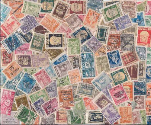 Fiume Stamp Collection - 50 Different Stamps