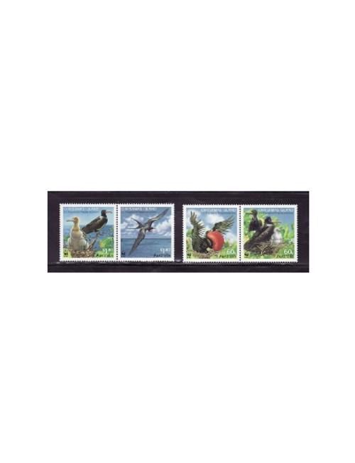 Christmas Island - Frigatebird 2-2 Stamp Pairs 3K-001