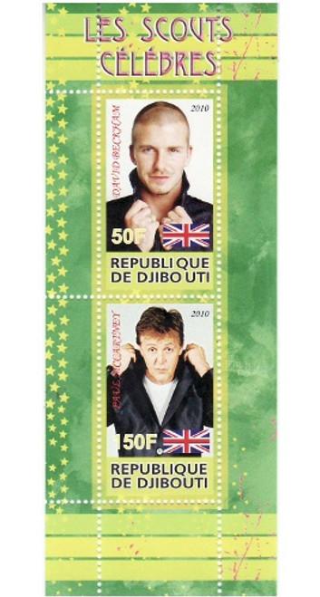 Djibouti - Celebrities - 2 Stamp Mint Sheet SV0803