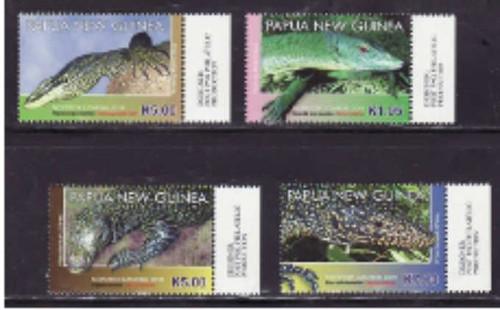 Papua New Guinea - 2011 Lizards - 4 Stamp Set MNH PNG1103C