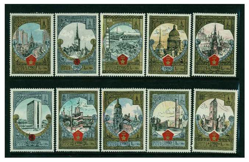 Russia - 1980 - Semipostal Stamp Set - 10 Stamps MNH - B127-36