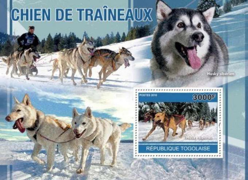 Togo - Sled Dogs - Mint Stamp S/S - 20H-157