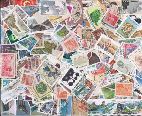 China Stamp Collection - 300 Different Stamps