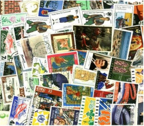 British Europe Stamp Collection - 500 Different Stamps