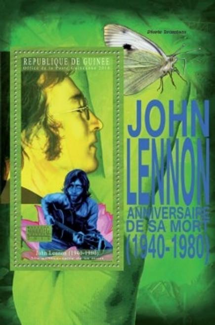 Guinea - John Lennon - Mint Stamp Souvenir Sheet 7B-1485