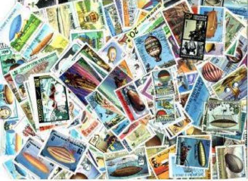 Balloons on Stamps Collection - 200 Different Stamps