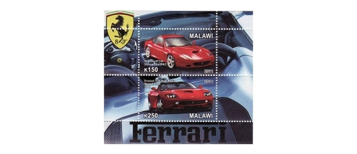 Malawi - Ferrari Cars - 2 Stamp Mint Sheet 13K-180