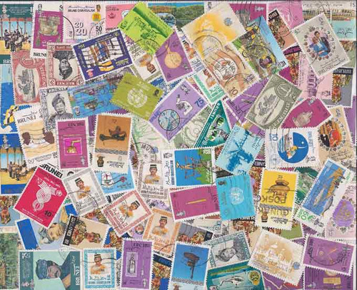 Brunei Stamp Collection - 100 Different Stamps