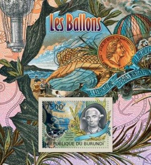 Burundi - Airships & Balloons, Montgolfier - Souvenir Sheet 2J-237
