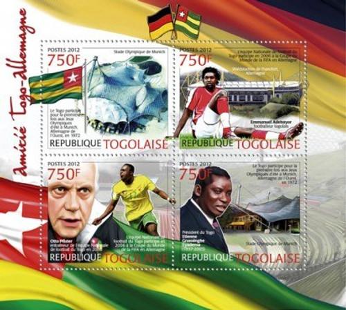 Togo - Togo & Germany - 4 Stamp Sheet 20H-428