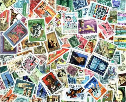 Hungary Stamp Pictorials Collection - 500 Different Stamps